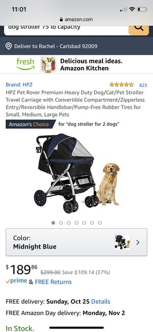 Dog stroller for up to 75 lbs for Sale in La Costa, CA