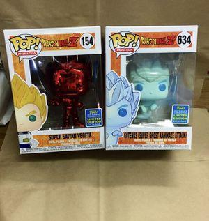 Funko Pops Dragon Ball Z SS Vegeta & Gotenks (super Ghost Kamikaze Attack) mint condition.... for Sale in San Francisco, CA