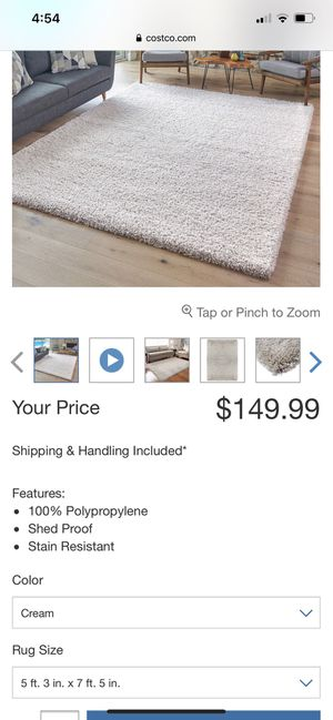 Luxury Shag Rug 5 ft 3 in x 7 ft 5 in for Sale in Prospect Heights, IL