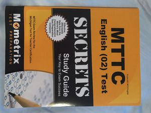 MTTC English Test Study Guide for Sale in Marquette, MI