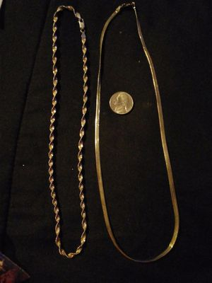 2 Sterling chains for Sale in Salt Rock, WV