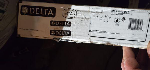 delta bathfaucet chrome 3593-mpu-dst