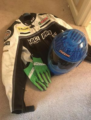 Motorcycle Gear, Helmet, jacket, & gloves. for Sale in Oak Grove, KY