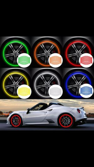 "16Pcs Strips Reflective Motocross Bike Motorcycle Wheel Stickers And Decals 14"" 17"" 18"" Reflective Rim Tape 5 Colors Car Styling- Available in August for Sale in Alhambra, CA"