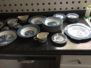 Curries and Ives vtg dishes for Sale in Puyallup, WA