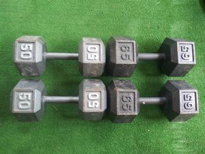Hex dumbell pairs for Sale in Canton, OH