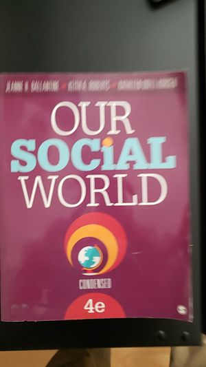 OUR SOCIAL WORLD TEXTBOOK for Sale in Norwalk, CA