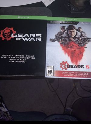 Gears of war download codes for Xbox one it comes with gears of war ultimate through Gears of war 5 for Sale in Waddell, AZ