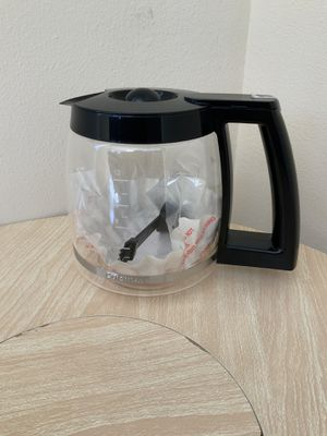 New, Cuisinart glass coffee carafe. 12 cups. Coffee maker glass pot sealed with measuring spoon. for Sale in Miami, FL