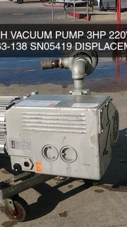 BUSCH VACUUM PUMP for Sale in South El Monte,  CA