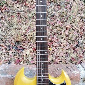 Rare TV Yellow Epiphone SG Junior Guitar & Gigbag for Sale in Covina, CA