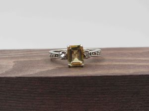 Size 9 Sterling Silver Rustic Citrine Gem Band Ring Vintage Statement Engagement Wedding Promise Anniversary Bridal Cocktail Friendship for Sale in Lynnwood, WA