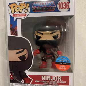 Ninjor Funko Pop *MINT* 2020 NYCC Toy Tokyo Exclusive Masters of the Universe He-Man MotU 1036 with protector for Sale in Lewisville, TX