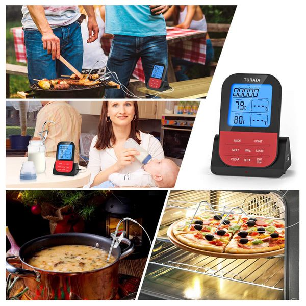 New Meat Thermometer, Remote Digital Wireless Food Thermometer with Dual Probe for Kitchen Smoker BBQ Grill Thermometer