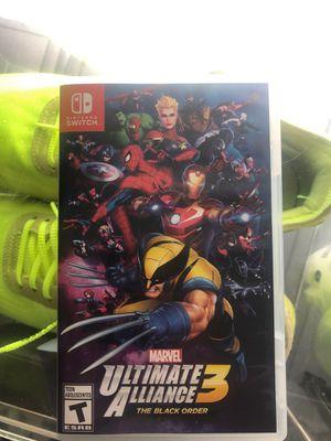 "Nintendo switch ""marvel alliance 3"" for Sale in Pawtucket, RI"