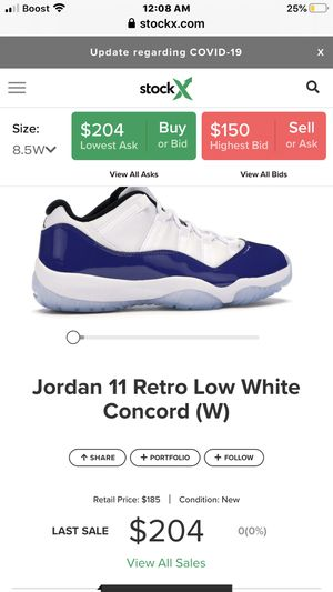 Jordan 11 retro low white concords for Sale in Glendale, WI