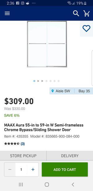 Double shower door glas for Sale in Farmville, VA