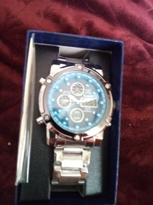 Strayer blue chronograph watch new asking 50.00 for Sale in Verbena, AL