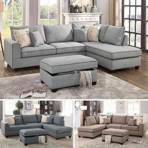 $799 This beautifully designed sofa collection features a traditional crafted unit with large plush pillows and seating in summer hues. It also inclu for Sale in Chino, CA