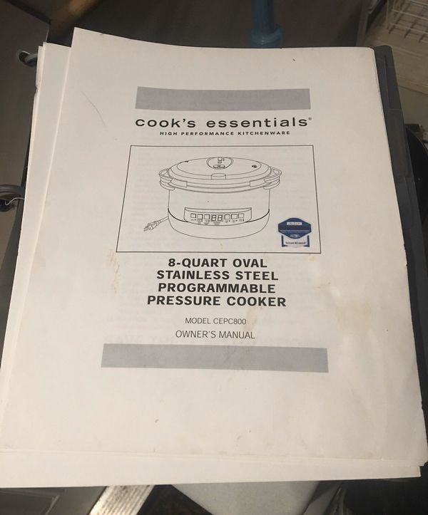 Cooks Essentials 8 quart oval stainless steel pressure cooker