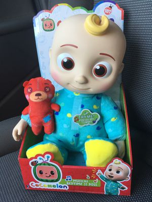"""Cocomelon JJ Doll 10"""" Plush Bedtime Singing Toy Youtube In Hand for Sale in Fairfield, CA"""