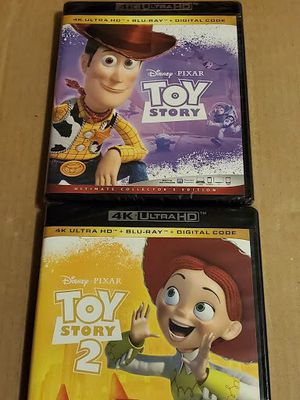 4k bluray disney pixar toy story blu ray brand new for Sale in Los Angeles, CA