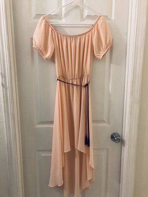 PEACH High-low off the shoulder dress for Sale in Hawthorne, CA