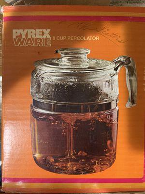 1941 PYREX WARE 9 cup percolator 49.5 oz model 7759 for Sale in Denver, CO