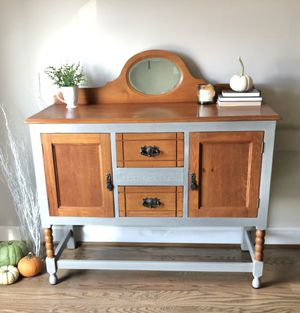 Antique Custom Refinished Buffet Sideboard Hutch for Sale in Ashburn, VA