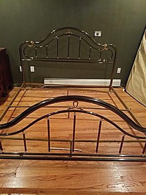 Brass bed frame $800 solid heavy duty king size for Sale in Bradley Beach, NJ