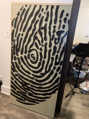 Table Top / Desk top with Glass Fingerprint Top for Sale in Alexandria, VA