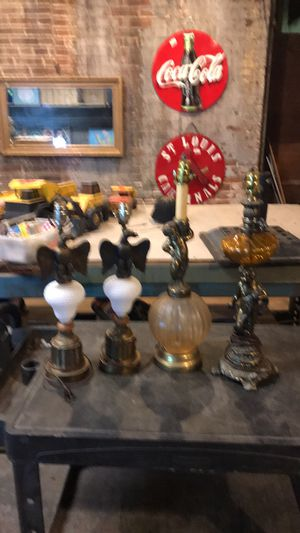 Vintage eagle and cherub lamps for Sale in St. Louis, MO