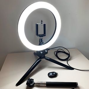 "New in box $25 each LED 8"" Ring Light Dimmable Table Stand USB Connection w/ Selfie Stick, Camera Remote for Sale in El Monte, CA"