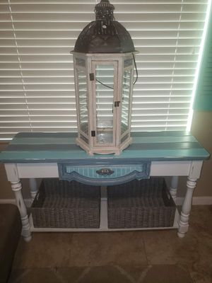 Beach cottage style entryway/sofa table for Sale in Phoenix, AZ