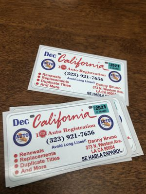DMV REGISTRATIONS for Sale in Los Angeles, CA