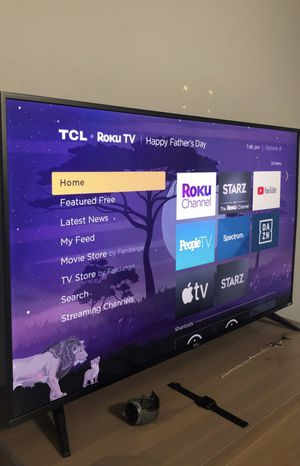 "Like new. 50"" TCL 5 Series Smart Roku 4K HDR flatscreen tv. $350 and pick up ready. for Sale in TEMPLE TERR, FL"