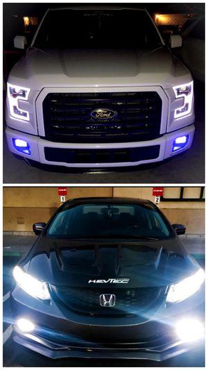 SUPER BRIGHT car led headlights or fog lights for ANY car $25 •plug&play •hablamos español for Sale in Los Angeles, CA