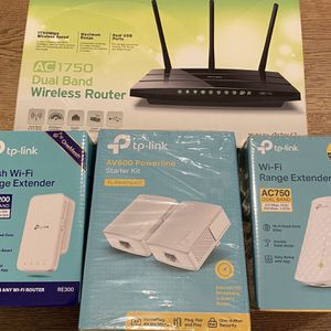 TP-Link Home WiFi Router & 4 Extenders for multi-room home for Sale in Seattle, WA