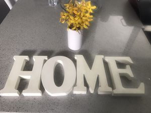 Home sign and fake plant for Sale in Santa Fe Springs, CA