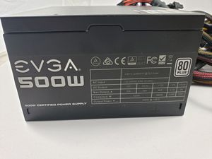 EVGA 500w 80 Plus Power Supply Computer Part for Sale in Santa Ana, CA