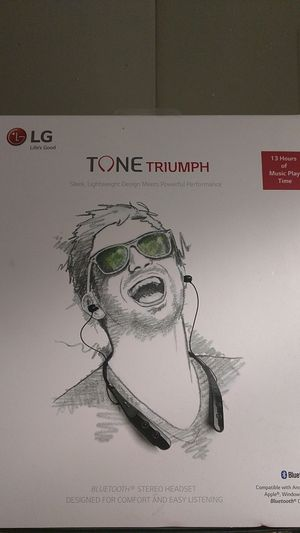 LG tone triumph Bluetooth headset brand new in the box sealed for Sale in Indianapolis, IN