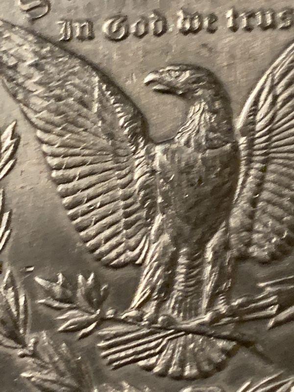 1878 Morgan $ Reverse of 79 , 7 tail feathers Condition A/U to Uncirculated SCARCE DATE