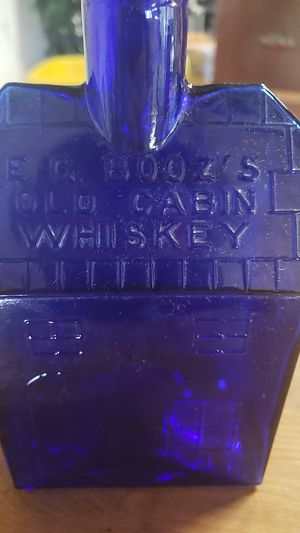 Antique E.c. boozs old cabin whiskey bottle for Sale in Plymouth, MA
