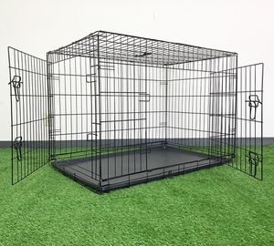 "$55 NEW Folding 42"" Dog Cage 2-Door Pet Crate Kennel w/ Tray 42""x27""x30"" for Sale in Montebello, CA"