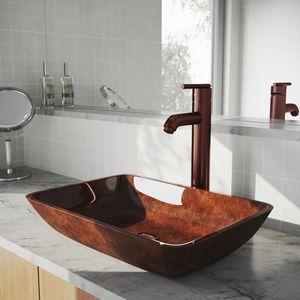 VIGO Single Hole Single-Handle Low-Arc Vessel Bathroom Faucet in Oil Rubbed Bronze for Sale in Dallas, TX