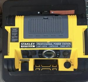 Stanley Professional Power Station.Works great.Also Battery charger. Air compressor.120v power outlets & 12v plug. Heavy for Sale in Sevierville, TN