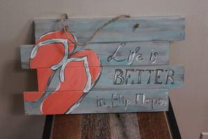 Handmade painted wooden beach sign for Sale in Billerica, MA
