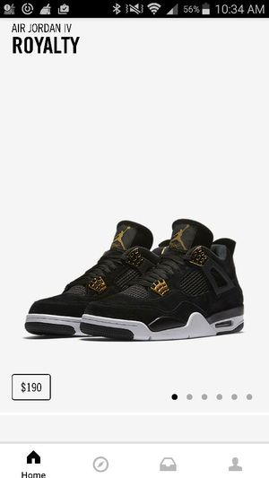 Jordan4 royalty new in box size 8. 190$ cash only for Sale in San Francisco, CA