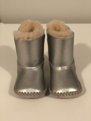 UGG silver fur boots size 12 months SMOKE FREE PET FREE HOME never worn for Sale in Edgewood, WA