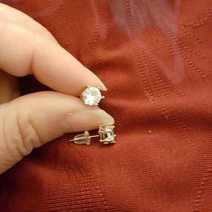 Silver Zircon Diamond small Stud earrings For men And women for Sale in Riverside, CA